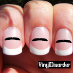 Mustache Finger Nail Art Vinyl Decal Sticker KC014