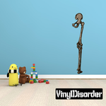 Skeleton Leg Bone Wall Decal - Vinyl Car Sticker - Uscolor003