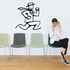 Man Running Wall Decal - Vinyl Decal - Car Decal - Business Decal - MC40