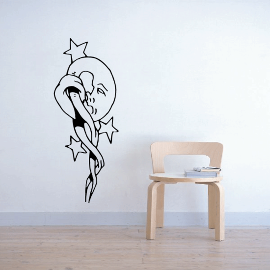 Moon Hanging on Decal