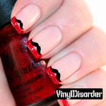 Mustache Finger Nail Art Vinyl Decal Sticker KC020