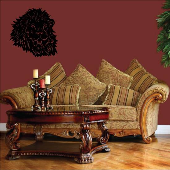 Relaxed Lion Head Decal