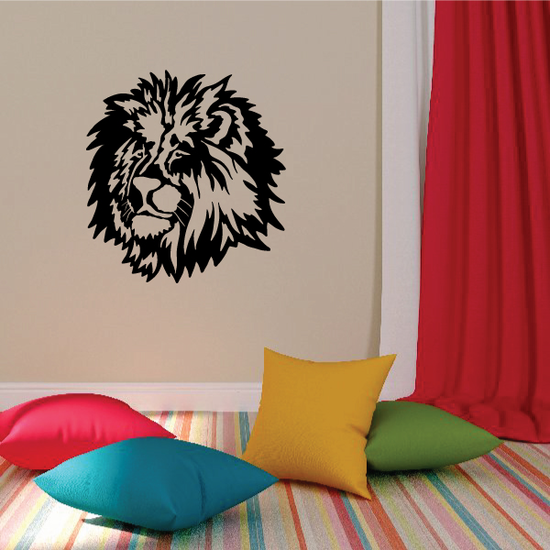 Mysterious Lion Head Decal
