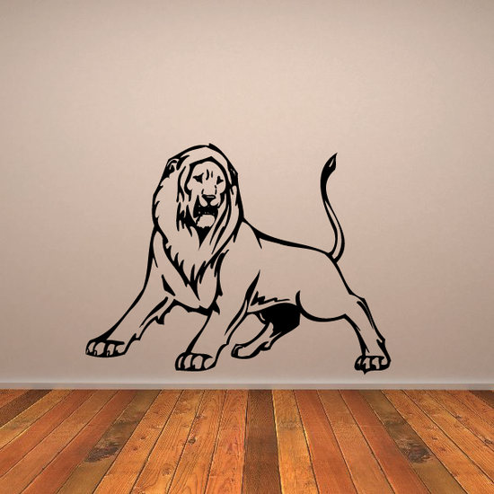 Protective Stance Lion Decal