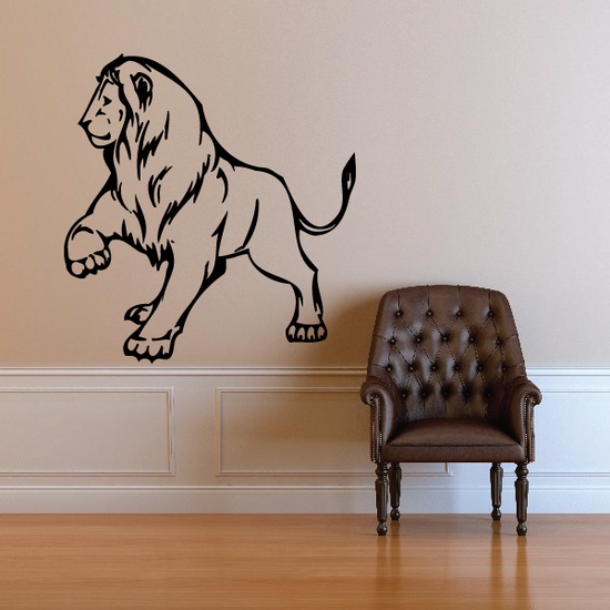 Taunting Lion Decal