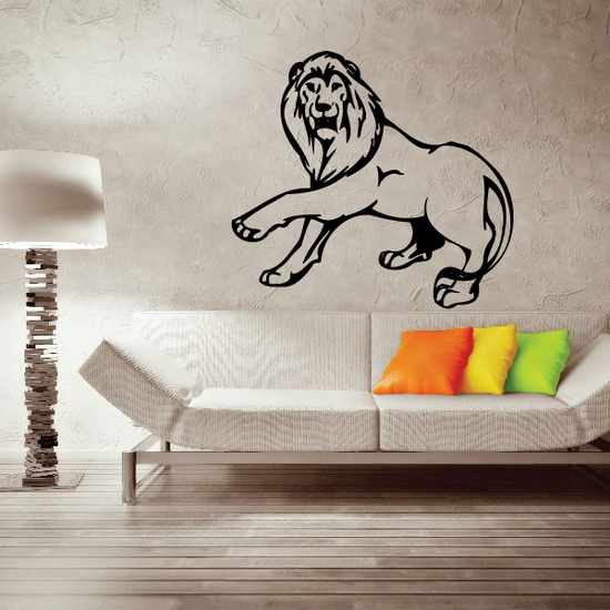 Pawing Lion Decal