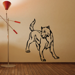 Staring Wolf Decal