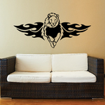 Flared Fire Wings Lion Decal
