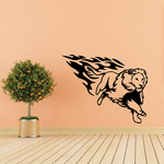 Fire Charged Lion Decal