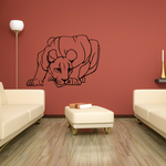 Female Lion Crouching Decal