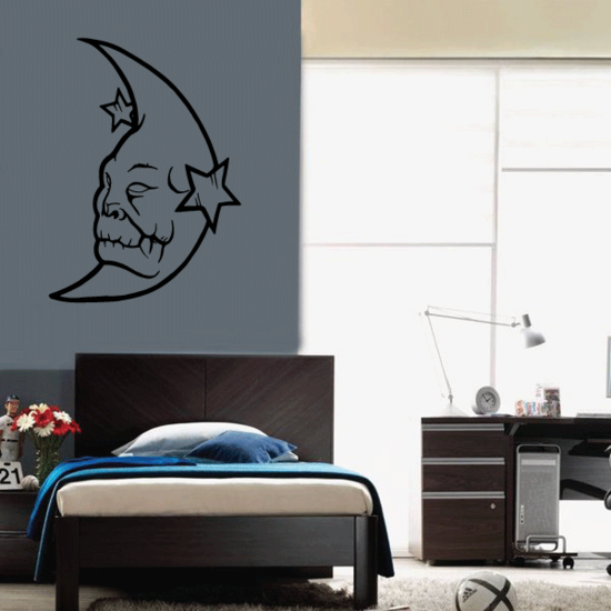 Demon Face Moon Decal