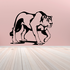 Female Lion Prowling Decal