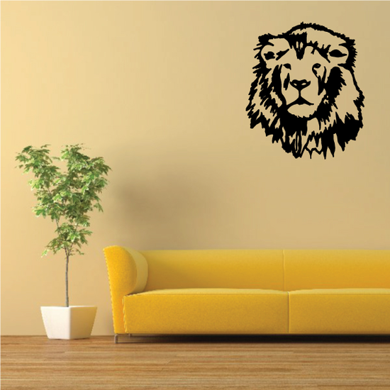 Graceful Lion Head Decal