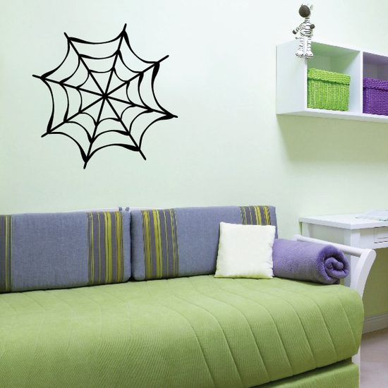 Classic Orb Spider Web Decal