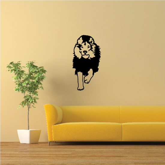 Running Stare Lion Decal