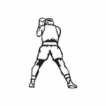 Boxing Wall Decal - Vinyl Decal - Car Decal - DC 002