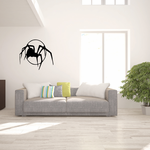 Black Widow Spider and Moon Decal