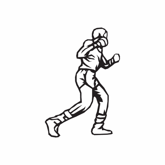 Boxing Wall Decal - Vinyl Decal - Car Decal - DC 003