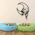 Old Long Haired Moon Decal
