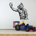 Boxing Mascots Boxer Dog Decal