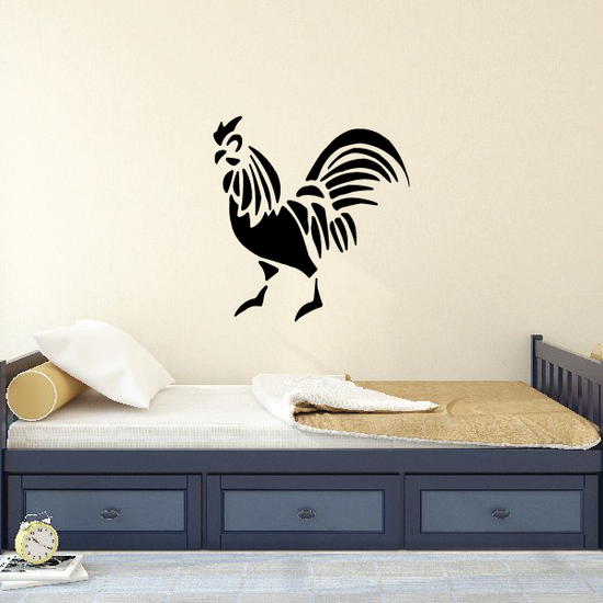 Chicken Carved Decal