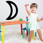 Bold Crescent Moon Decal