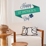 Happy St. Patrick's Day 4 Leaf Clovers Shamrock Sticker