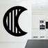 Striped Waning Crescent Decal