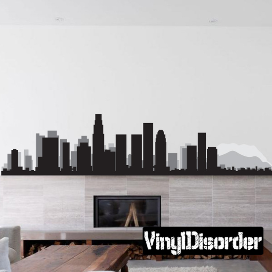 Los Angeles California Skyline Decal