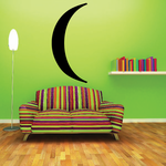 Thin Crescent Moon Decal