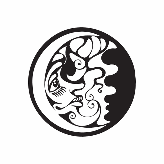 Face of the Moon Decal