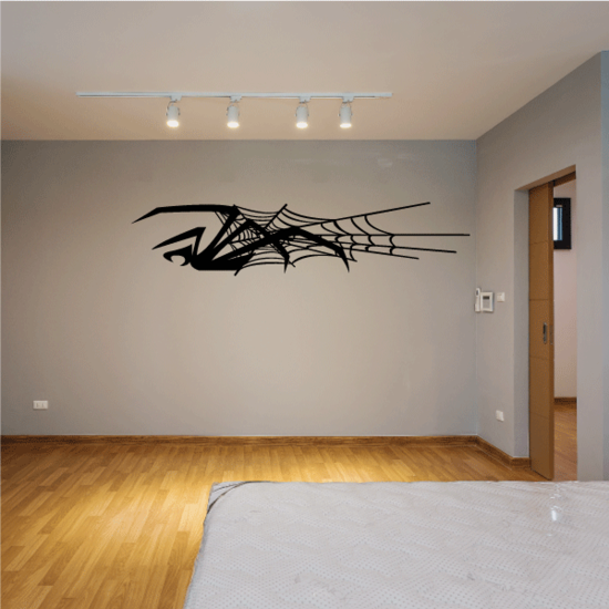 Spider and Web Decal