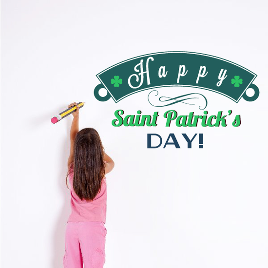 Happy Saint Patrick's Day Decorative Printed Die Cut Decal