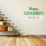 Merry Happy St. Patrick's Day Banner Printed Die Cut Decal