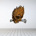 Skull Carving Sticker