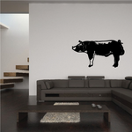 Berkshire Pig Standing Decal