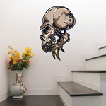 Ferocious Alien Skull Sticker