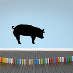 Hunched Standing Pig Decal