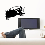 Jumping Pig Decal
