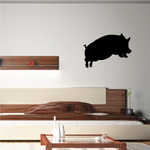 Jumping Pig Silhouette Decal