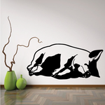 Side Sleeping Pig Decal