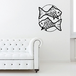Two Opposite Facing Goldfish Decal