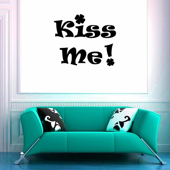 Kiss Me Clover Decal