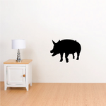 Happy Pig Silhouette Decal
