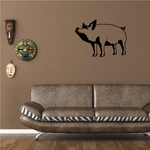 Peaceful Pig Decal