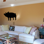 Peaceful Pig Silhouette Decal
