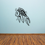 Smiling Bubbly Goldfish Decal
