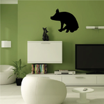 Sitting Pig Silhouette Decal