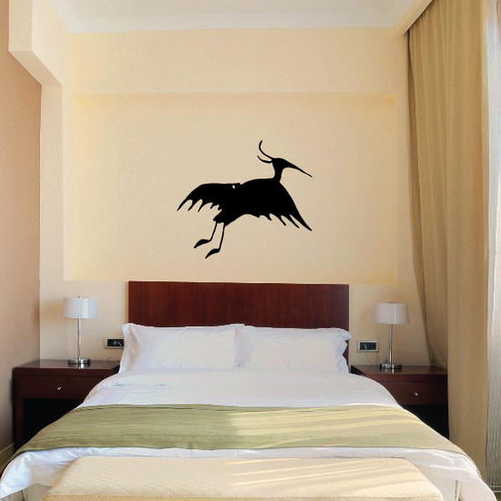Egret Flying Silhouette Decal
