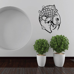 Curled Goldfish Decal